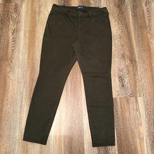 Old Navy Rockstar Olive Green Jeans 12 Petite